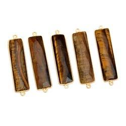 Tiger Eye Rectangle Shape Connector