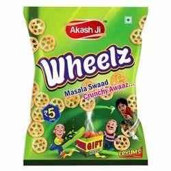 Akash Ji Crunchy Masala Wheels Fried Fryums, Packaging Size: 25 Gm