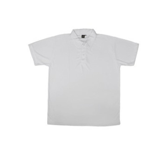 84801e9ffad15 Cotton Half Sleeve Collar Plain White T Shirt, Size: Large, Rs 170 ...