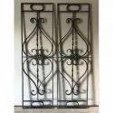 Black Ornamental Cast Iron Window Grills