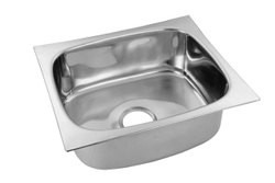 Stainless SteelSquare Bowl Kitchen Sink, Size - 20X17X8