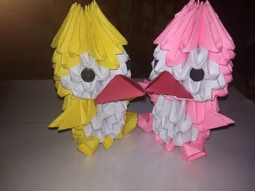 3D origami colourful bird (kolorowy ptak) - YouTube   375x500