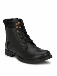 Men Black Fashionable Boots, Size: 6 to 11