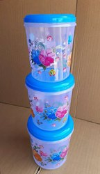 Plastic Flower Printed Container