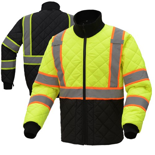 Cotton Polyester Unisex Security Construction Safety Jacket, Packaging Type: Box