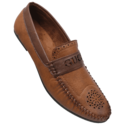 Brown Synthetic Mens-loafer Leather- Shoes, Size: 6 - 10