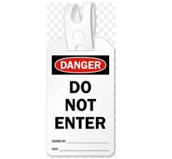 Danger Self Fastening Tag