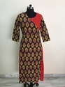 Double Layer Mugal Print Kurti with Rayon attached inner