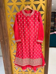 Red Sharara Suits