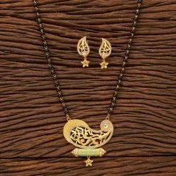 Beautifull Handmade Mangalsutra Set With Gold Plating 200397