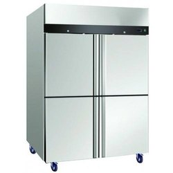 Stainless Steel 4 Star SS Four Door Vertical Refrigerator, Capacity: 1300 L