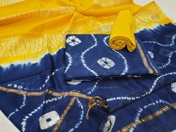 Hand Block Print Chanderi Silk Suit Set