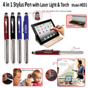 4 in 1 Stylus Touch Pen with Laser Light & Torch  H-031