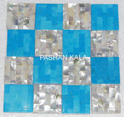 Turquoise and Mother of Pearl Tiles