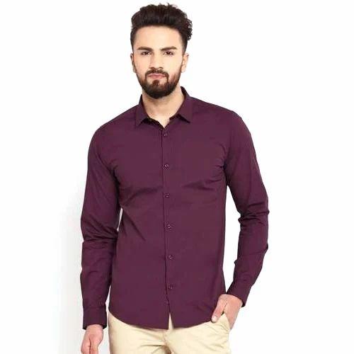 590b329c86676 Oshano Cotton Mens Purple Casual Plain Shirt
