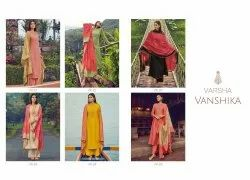 varsha Chiffon Embroidery Suit, Dry clean