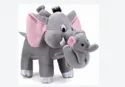 RDA Business Collection Mother Elephant With Two Babies  - 32 cm  Grey