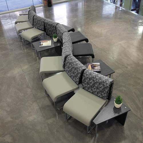 fibreboard seat material modern lobby waiting chair rs 25000 set rh indiamart com  office lobby furniture modern
