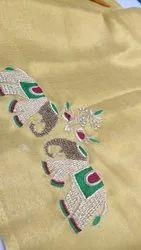 Nandini Party Wear Banarasi Hand Work Sarees