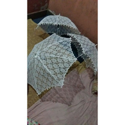White Net Crochet Umbrella