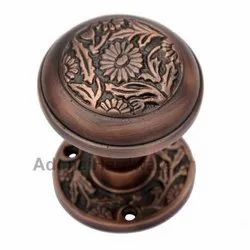 Eden Brass Door Knob with Rose