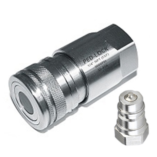 """PED-LOCK Quick Release Coupling, Size: 1/8"""" to 1"""" NB End"""