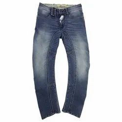 Plain Comfort Fit Kids Knitted Cotton Jeans, Waist Size: 20 - 40 inch
