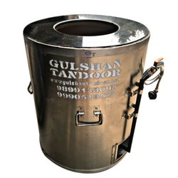 Stone Top Gas Stainless Steel Drum Tandoor