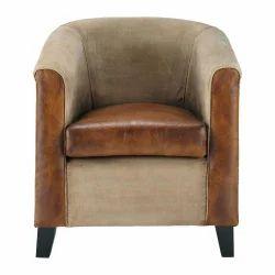 Vintage Leather Brown Armchair Sofa