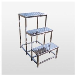 Stainless Steel 3 Step Ladder