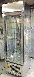 Silver Vertical Glass Door Refrigerator, Capacity: 200 L