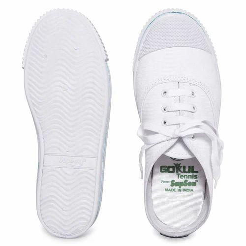 SapSon Tennis White Shoes, Size: 5 to