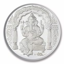 Ganesh Silver Coin Ganesh Chandi Ka Sikka Latest Price