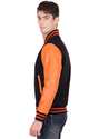 Varsity Jacket - Black Burnt Orange