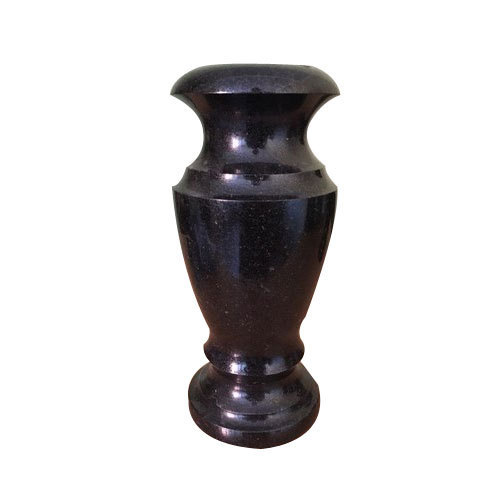 Black Granite Vase