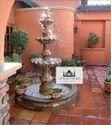 Brown Stone Fountain