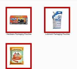 Multicolor Rotogravure Industrial Packaging Pouches