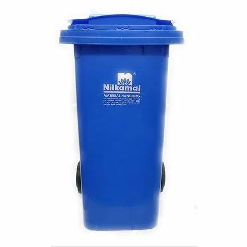 Nilkamal Wheeled Blue Plastic Dustbin 240ltr