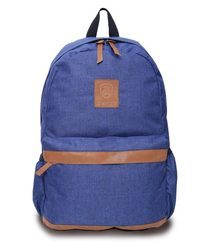 Tan and Blue Free Size Backpack