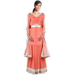 Silk Party Wear Anarkali Dress