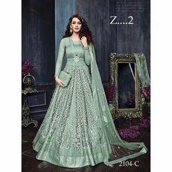 7d53a85d2cd561 Zoya Green Designer Gown, Rs 3575 /unit, Alliance India Enterprises ...