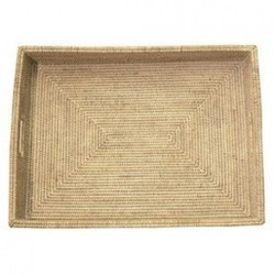 Rectangular Woven Wicker Tray