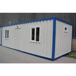Steel White, Blue Prefabricated Portable Cabin