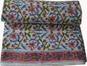 Hand Block Print Cotton Fabric Floral Jaipuri Print