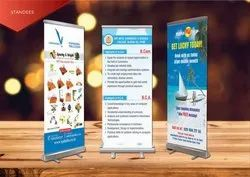 Roll Up Standee With Flex PVC Corporate Standees Printing, Automatic Grade: Automatic, Size: 6 X 3' Ft