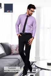 Purple Plain Formal Unstitched Uniform Shirts and Pant for Office Staff