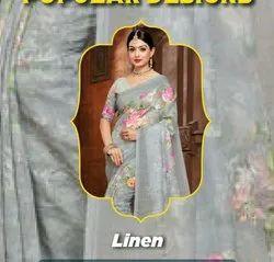 Ladies Printed Cotton Saree