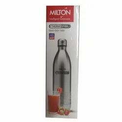 Screw Cap Milton Thermo Steel Water Bottle, Model Name/Number: Duo Dlx Hot N Cold, Capacity: 1L