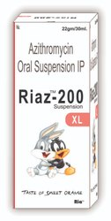Azithromycin 200mg in 30 ml (Sweet Orange Flavour)