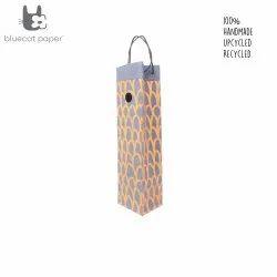 Charming handmade paper wine bags - orange